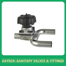 Sanitary U-Type Tee Welded Diaphragm Valve